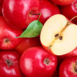 Red apples with leaf — Stock Photo #3648704