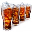 Glasses with cola and ice cubes — Stock Photo #3649316