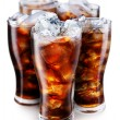 Glasses with cola and ice cubes — Stock Photo #3649337