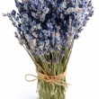 Bundle of dried lavender. - Stock Photo