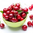 Bowl with ripe cherries. — Stock Photo #3652379