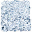 Ice cubes on a white background — Stock Photo