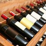 Closeup shot of wineshelf. — Stock Photo #3658660