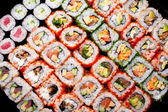 Japanese sushi rolls. View from above. — Foto Stock