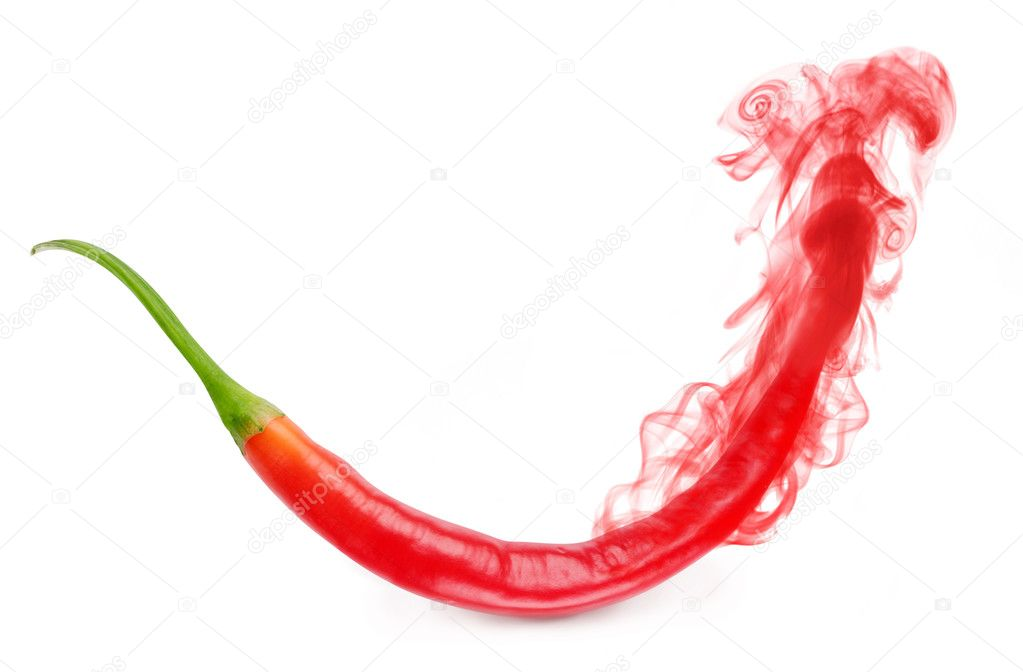 The aroma of red pepper evaporates in the form of smoke — Stock Photo #3650150