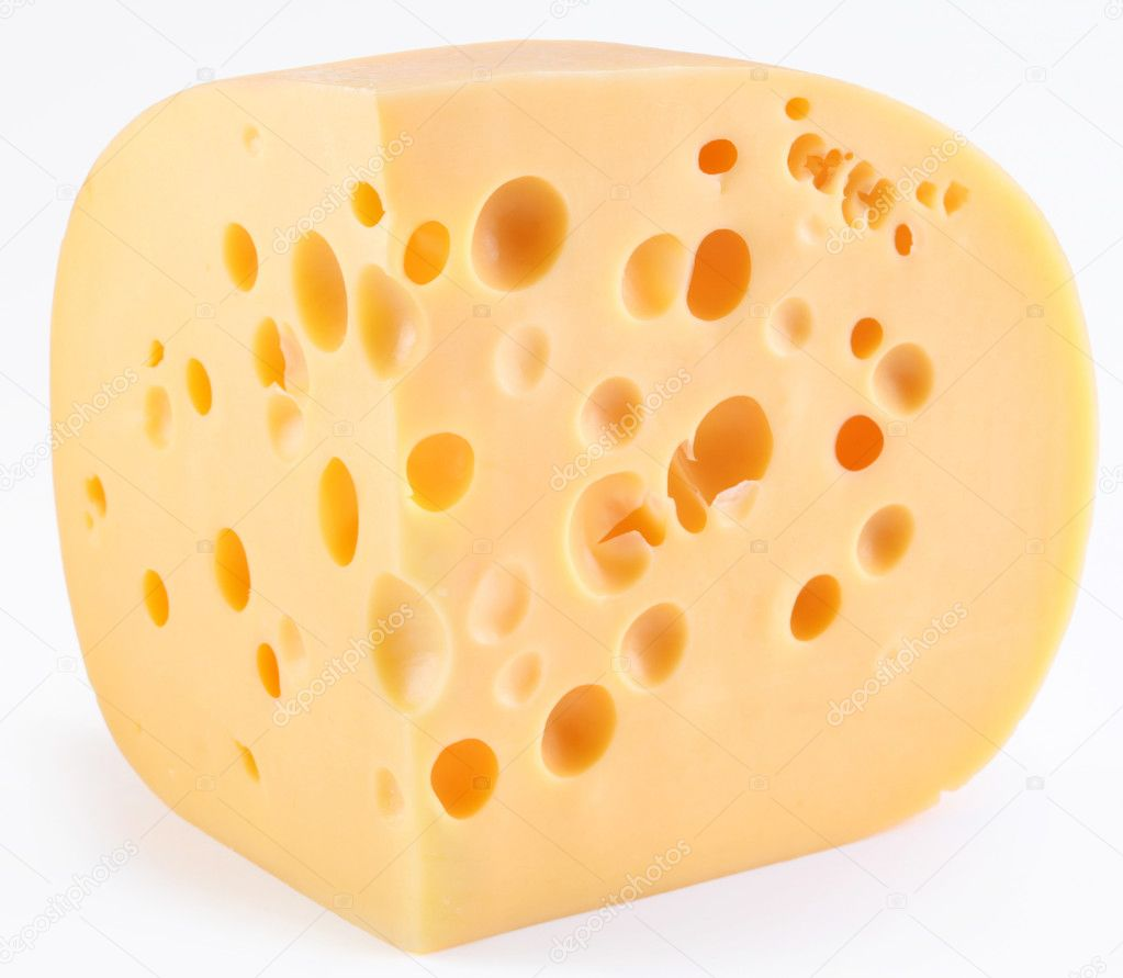 Dutch cheese on a white background — Stock Photo #3657823