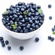 Stok fotoğraf: Crockery with blueberries.