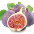 Fruits figs on white background -  
