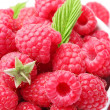 Stok fotoğraf: Crockery with beautiful tempting raspberries.