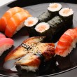Set of Japanese sushi on a plate — Stock Photo #3752280