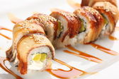 Japanese sushi with eel — Stock Photo
