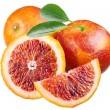 Sicilian red oranges on a white background - Stock Photo
