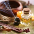 Still Life with aroma sticks in the spa salon. - Stock Photo