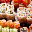 Sushi et rouleaux — Photo