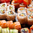 Stock Photo: Sushi and rolls