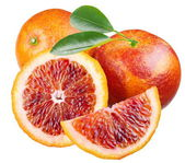 Sicilian red oranges on a white background — Stock Photo