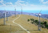Landscape with wind turbines — Stock Photo