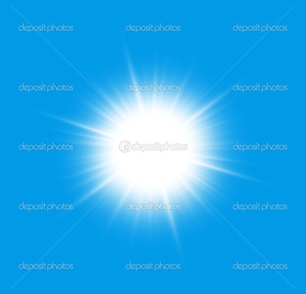 Close to the sun on a blue background. — Stock Photo #3835079