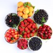Summer wealth. Variety of berries. — Stock Photo