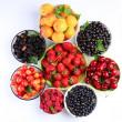 Summer wealth. Variety of berries. — Stock Photo