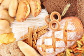 With bakery products — Stock Photo