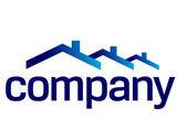 Hus taket logotyp — Stockvektor
