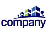 ακίνητη περιουσία σπίτι λογότυπο — Διανυσματικό Αρχείο