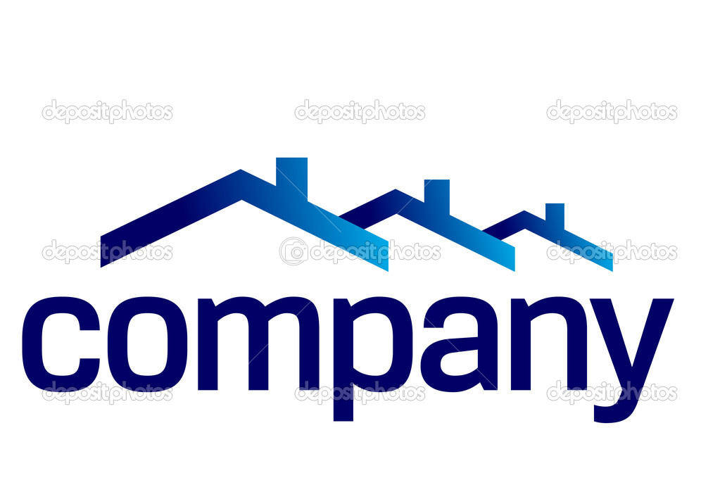 House roof logo for real estate company. — Stok Vektör #3414523