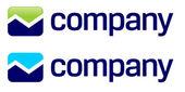 Akciový trh šipky logo — Stock vektor