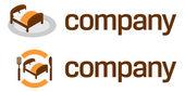 Podróż logo - zakwaterowanie ze śniadaniem hotel ilustracja — Wektor stockowy