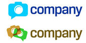 Foto kamera logotypdesign för professionell studio — Stockvektor