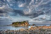 россия, приморье, закат остров — Стоковое фото