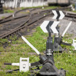 Rail turnouts Indices — Foto Stock