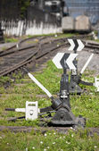 Rail turnouts Indices — Stock Photo