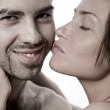 Closeup of a sexual young couple — Stock Photo