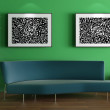 3d rendering. Modern design of an interior of a room of expectation at offi — Stock Photo