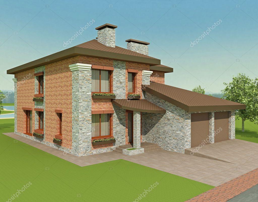 Exclusiva casa de campo de dos plantas en la naturaleza for Casas de campo de dos plantas