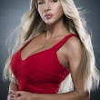 Portrait of sexy woman in red dress — Stock Photo #3665951