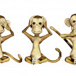 Stock Photo: Three Monkeys