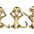 Three Monkeys — Stock Photo #3638142