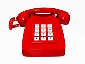 Eski kırmızı telefon — Stok fotoğraf