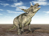 Dinosaur Diabloceratops — Stock Photo