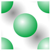 Kesintisiz olarak yeşil topları — Stok Vektör