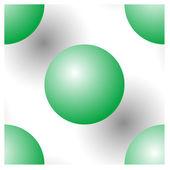 Transparente como bolas verdes — Vector de stock