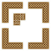 Celtic knotwork border — Stock Vector