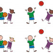 Kids with a ball — Stock Photo #3388936