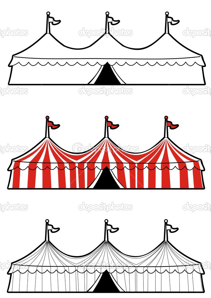 Vintage Circus Tent Clip Art | Best | Free |