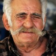 Senior Greek man with a big mustache - Stock Photo