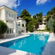 Luxury villa with swimming pool — Stok fotoğraf