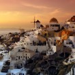 The village of Oia, Santorini, Greece - Stock Photo